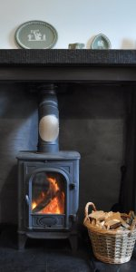 Log Burner at Cults Cottage self catering holiday accommodation