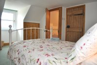 Double Bedroom with ensuite bathroom at Cults Cottage